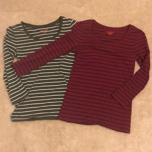 2 3/4 Length Striped Shirts
